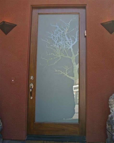Etched Glass Front Door Beautiful House Pinterest Front Door Frosted Glass