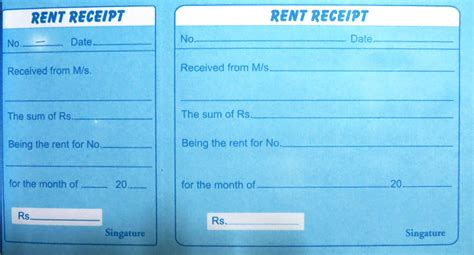 download a free property management template rent receipts for word