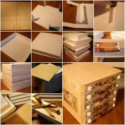 How To Make A Drawer Box Out Of Paper - 17 best ideas about cardboard organizer on