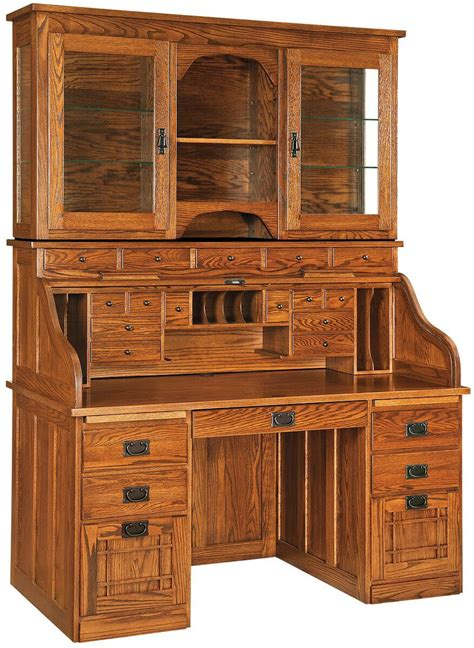 roll top desk with hutch instructors roll top desk with hutch countryside amish