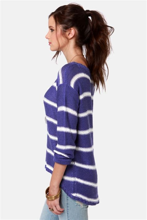 Sweater My Stripe just my stripe blue and white striped sweater 7 summer sweaters