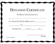 Donation Certificate Template by Printable Donation Certificates Templates