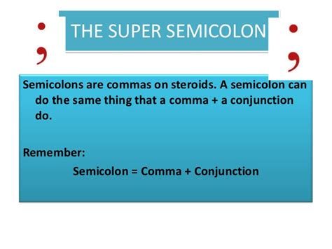 comma or semicolon combining sentences with semicolons and commas