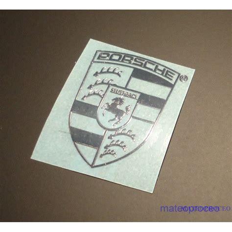 Porsche Sticker Aufkleber by Porsche Label Sticker Badge Logo Metal Chrome