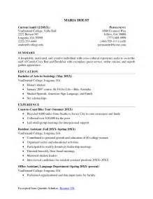 college student resume exle sle classifiedsfree