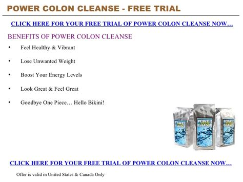 The Detox Power Free by Power Colon Cleanse Free Trial