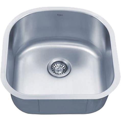 20 inch kitchen sink kraus kbu15 20 inch undermount single bowl 16