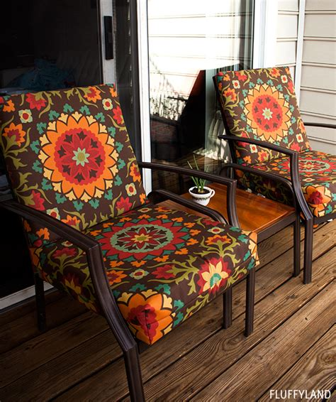 recovered patio chair cushions ? Fluffyland Craft & Sewing