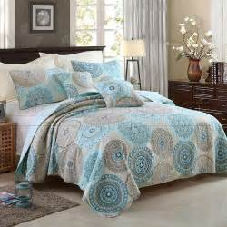 Blue Coverlets For Beds Quilted 100 Cotton Coverlet Bedspread Set King
