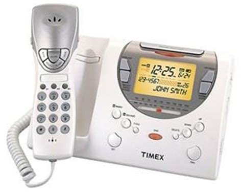 timex t489w am fm alarm clock radio phone w talking cid and nature sounds