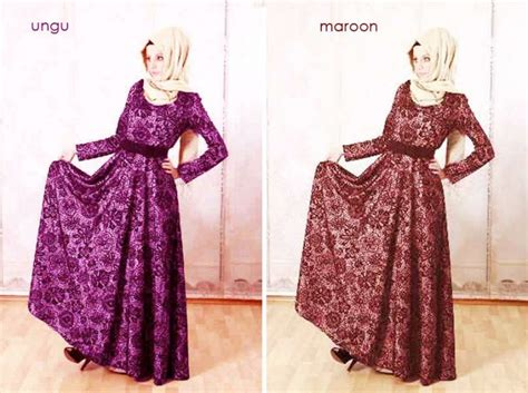 Baju Gaun Brukat | gaun full brokat dhaby baju gamis busana pesta model