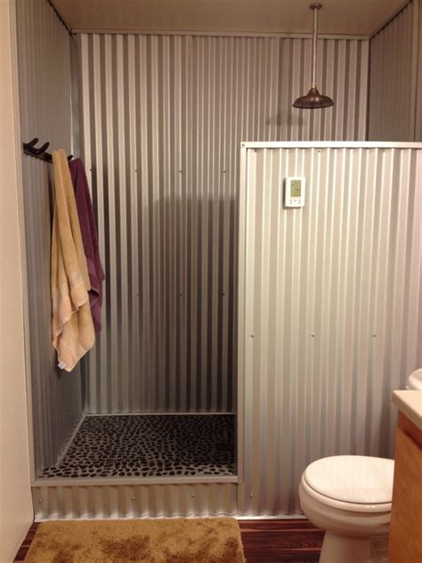bathroom partition ideas corrugated metal in interior design creative ideas for