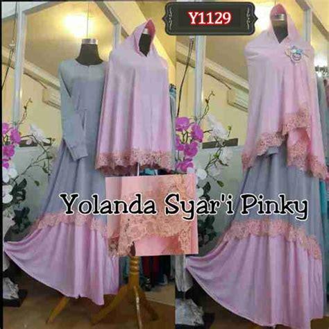 Kerudung Yolanda Syar I baju muslim bergo yolanda glitter y1129 gamis pesta