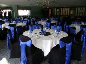 black blue and silver table settings mislay s blog black chair covers royal blue sashes wedding royal blue satin sashes royal