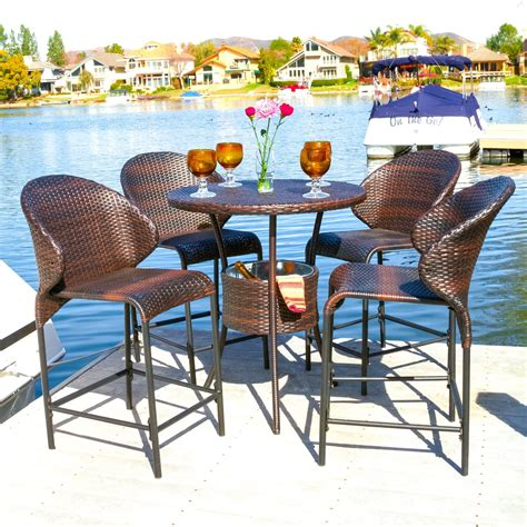 3 Bar Height Patio Dining Sets to Enjoy   Outdoor Bar