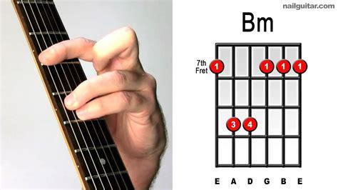 tutorial gitar metallica how to play b minor easy guitar chord lesson tutorial