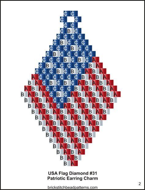 pattern making jobs usa brick stitch bead patterns journal usa flag diamond 3