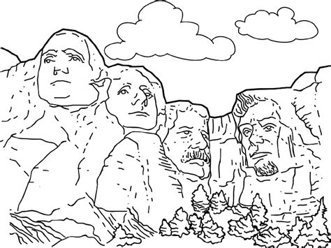 Coloring Page For Mount Rushmore | mt rushmore coloring page printable coloring pages