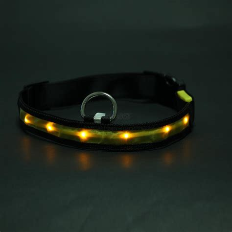 dog collars with lights for night dog pet led light up flash night safety neck collar