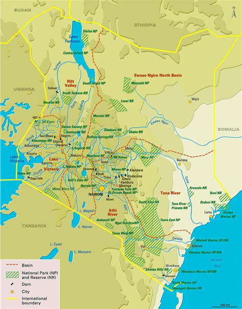 map of kenya large detailed national parks map of kenya kenya large