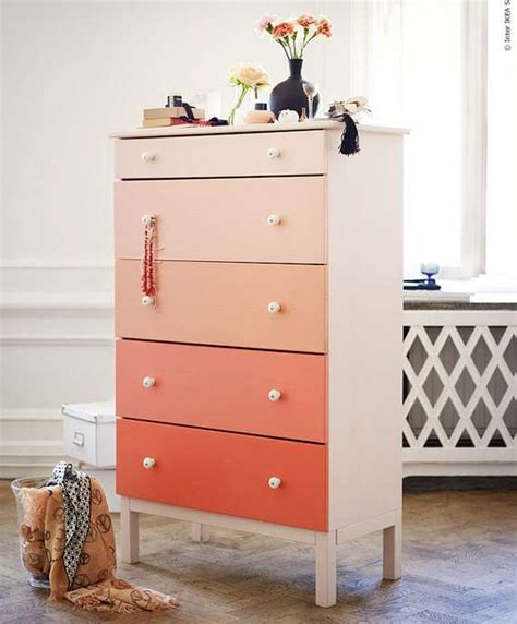 Colored Dresser by Fading Colored Furniture Diy Ombre Dresser