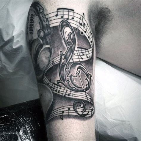 musical tattoos for men 50 headphones designs for musical ideas