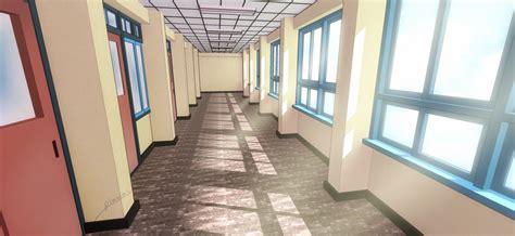bedroom scene v2 by george streets on deviantart school corridor by pluvias on deviantart
