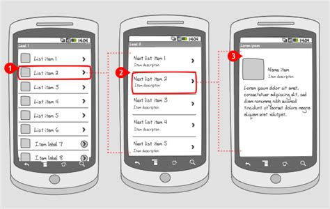 design pattern for android drill down navigation android interaction design patterns