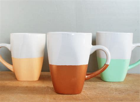 the simplest diy coffee mugs 7 paint dipped crafts that are so easy to make you ll be