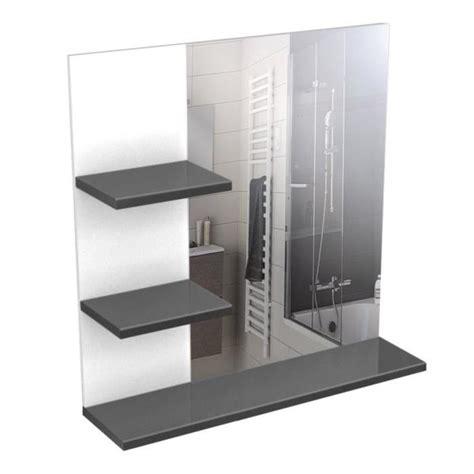 corail meuble miroir de salle de bain 60 cm gris haute