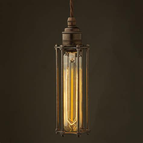 Edison Pendant Lights Edison Style Cage E27 Bronze Pendant