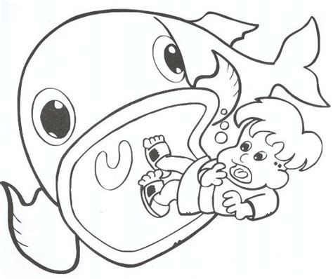 jonah and the whale coloring pages printable sketch