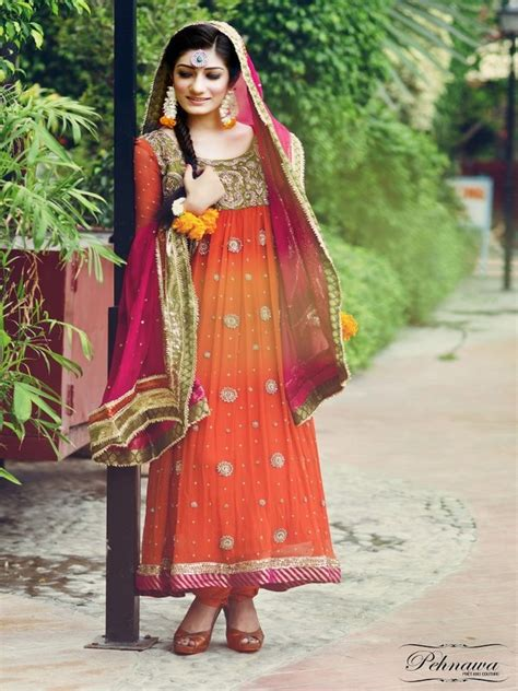 dress design in pakistan facebook latest bridal mehndi dresses designs 2014 womenstyle pk