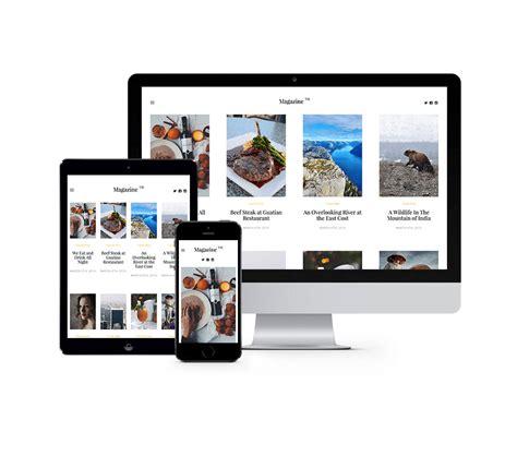magazine layout bootstrap magazine free html5 bootstrap website template freebies