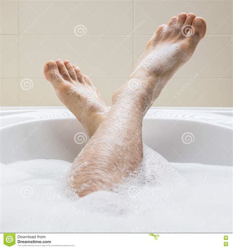 Men S Feet In A Bathtub Selective Focus On Toes Stock Photo Image 73254741