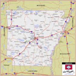 arkansas and map map of arkansas travel map travelquaz
