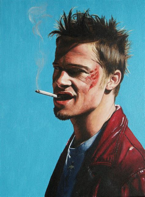 tyler durden hairstyle tyler durden brad pitt in fight club by agusgusart on