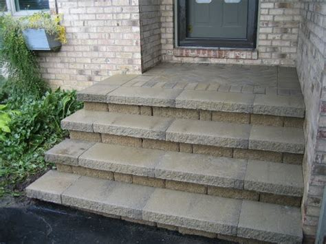 Concrete Porch Stairs concrete and brick front porch steps home sweet home