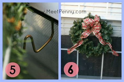 how to hang a christmas wreath on a window meet penny