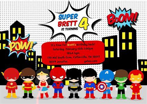 printable birthday cards superhero superhero birthday party invitation wording