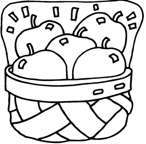 empty fruit basket coloring pages