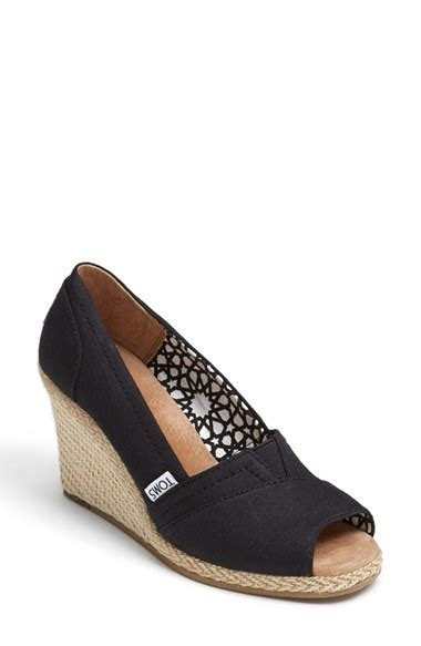 Wedges Blackkelly 15 lyst toms calypso canvas wedge in black