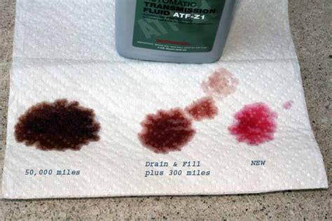 what color is transmission fluid transmission fluid color chart find the fluid
