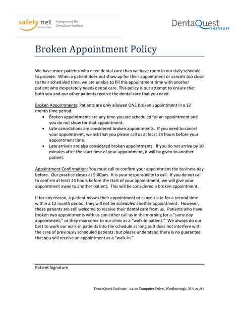 letter cancel medical appointment templates