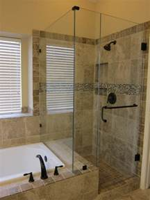 Pictures Of Small Bathrooms With Tub And Shower Shower And Tub Master Bathroom Remodel Traditional