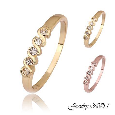 rings jewelry 18k gold ring jewelry alphabet