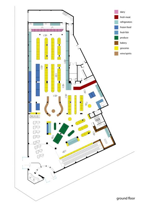 supermarket layout drawings supermarket in athens klab architecture archdaily