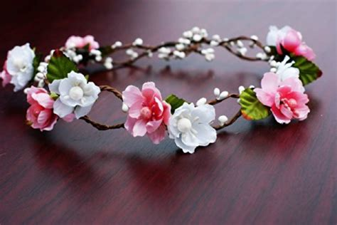 White Budroses Flower Crown 1 bridal flower crown floral crown wedding wreath boho garland white pink in the uae see prices