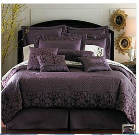 plum comforter sets winstone 16pc comforter set queen plum new