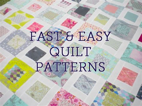 Easy Patchwork Patterns - fast and easy quilt patterns sewing quilting